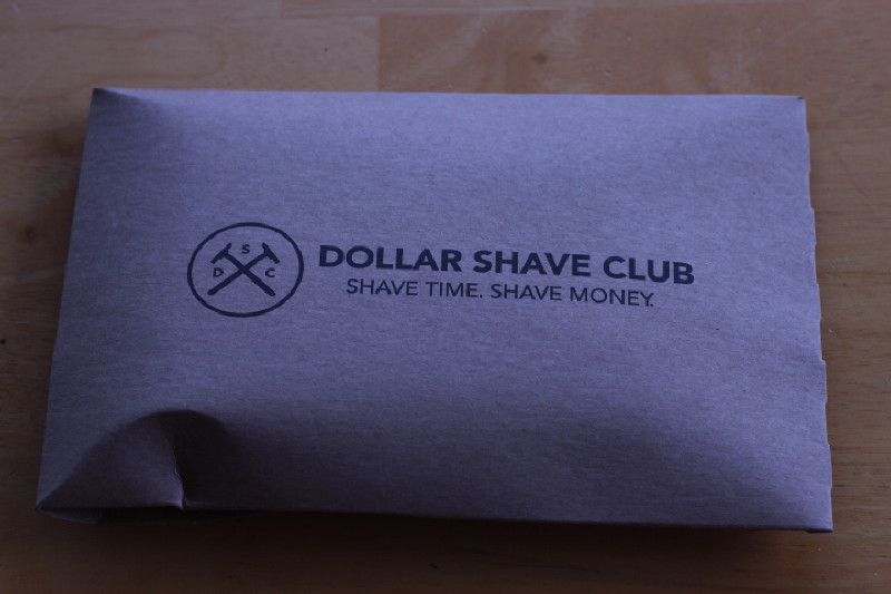 The Dollar Shave Club minimalist envelope